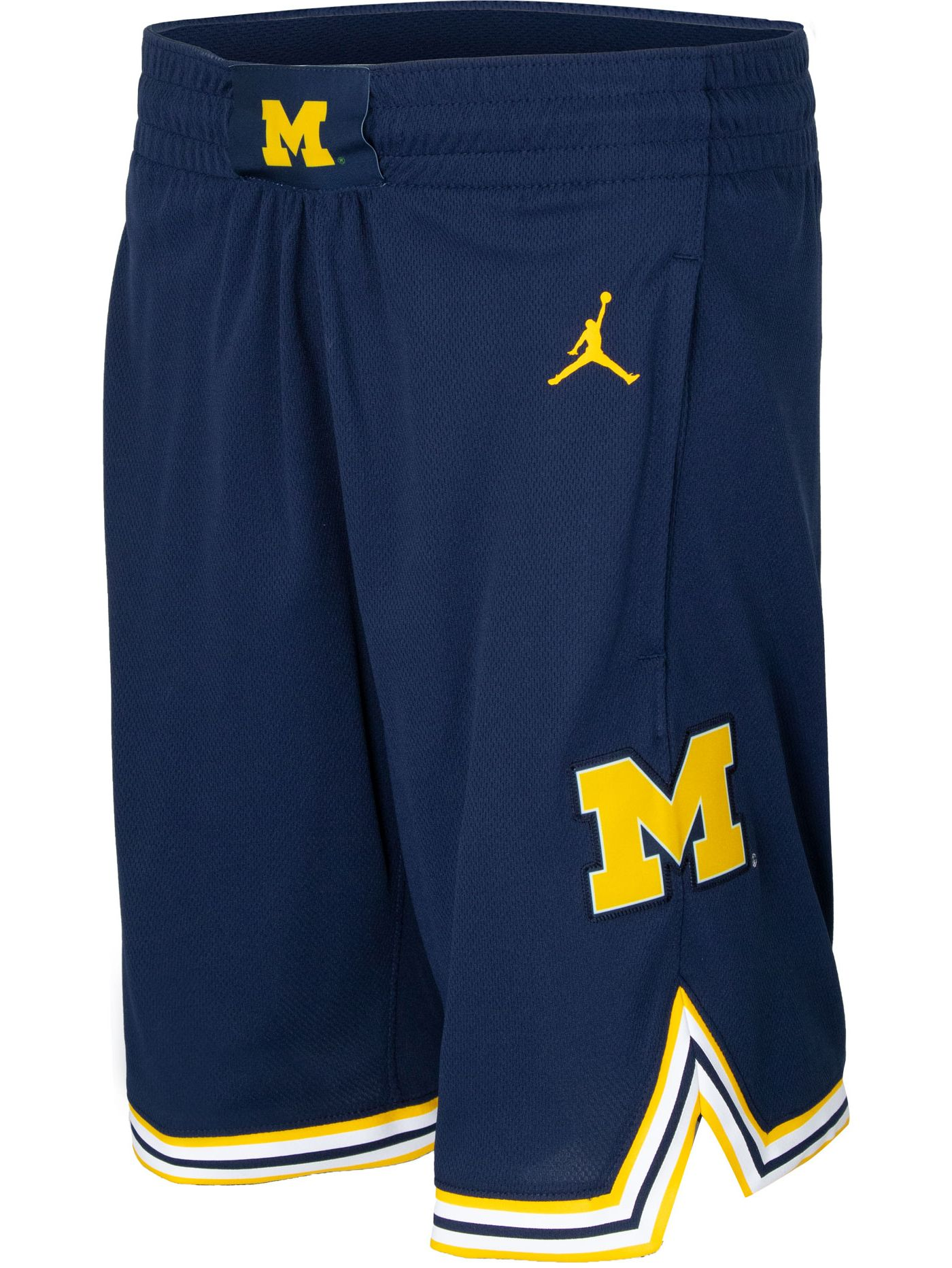 Jordan Youth Michigan Wolverines Blue Basketball Shorts