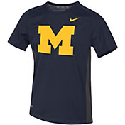 Nike Youth Michigan Wolverines Blue Dri-FIT Miler T-Shirt