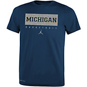 Jordan Youth Michigan Wolverines Blue Basketball Legend Practice T-Shirt