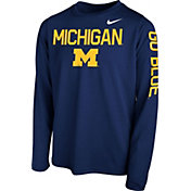 Nike Youth Michigan Wolverines Blue Legend Core Long Sleeve Shirt