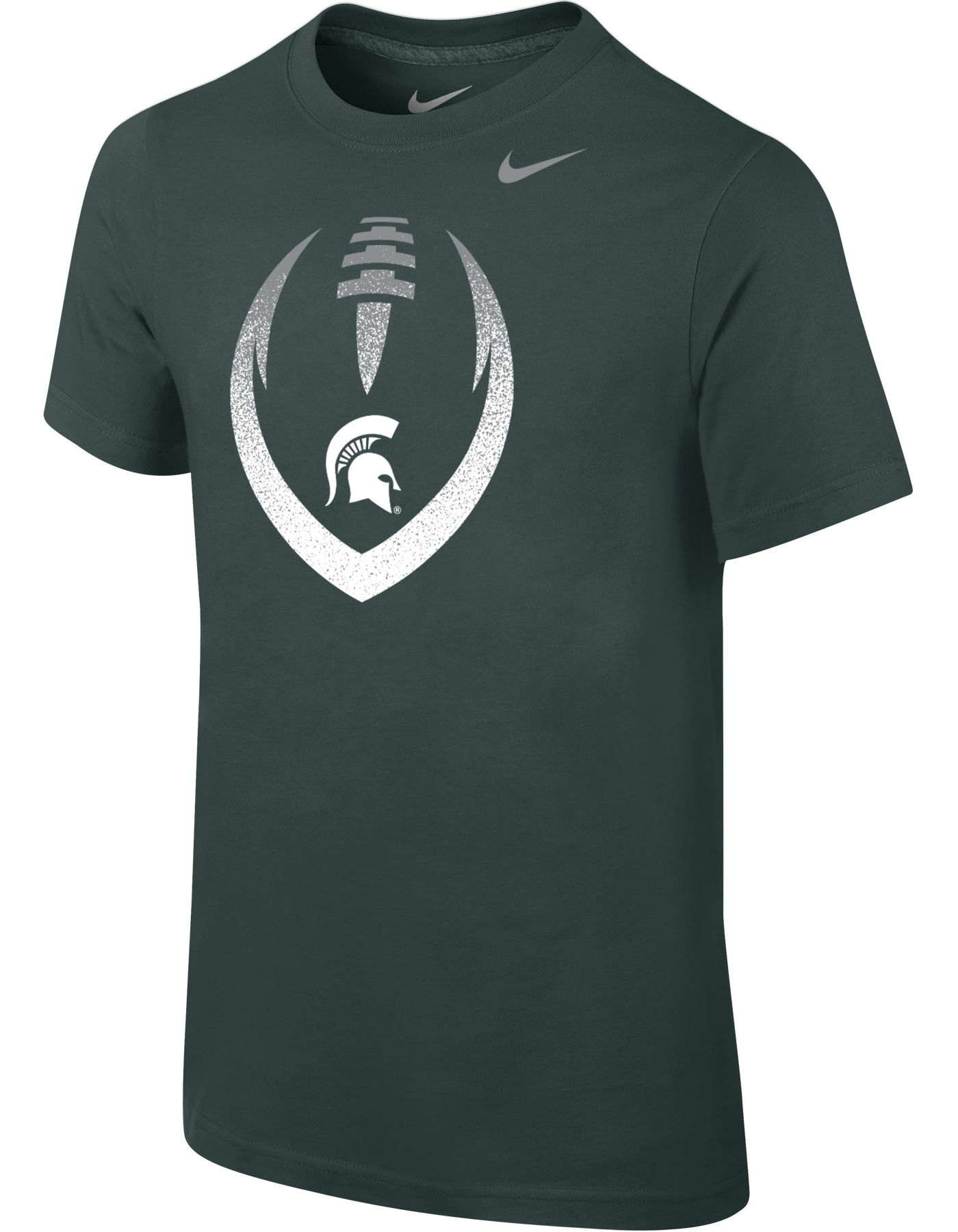 Nike Youth Michigan State Spartans Green Cotton Football Icon T-Shirt