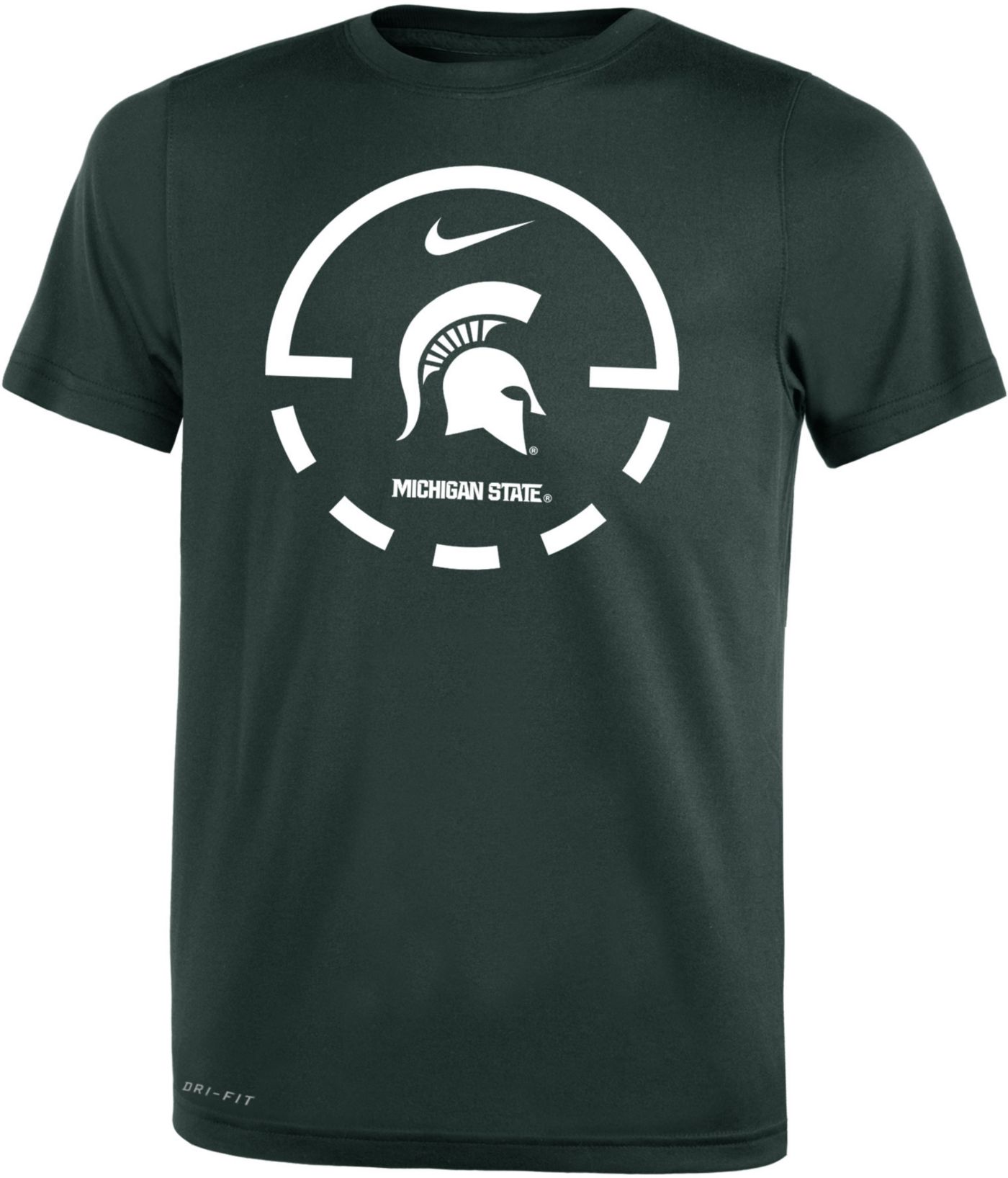 Nike Youth Michigan State Spartans Green Legend Basketball Key T-Shirt