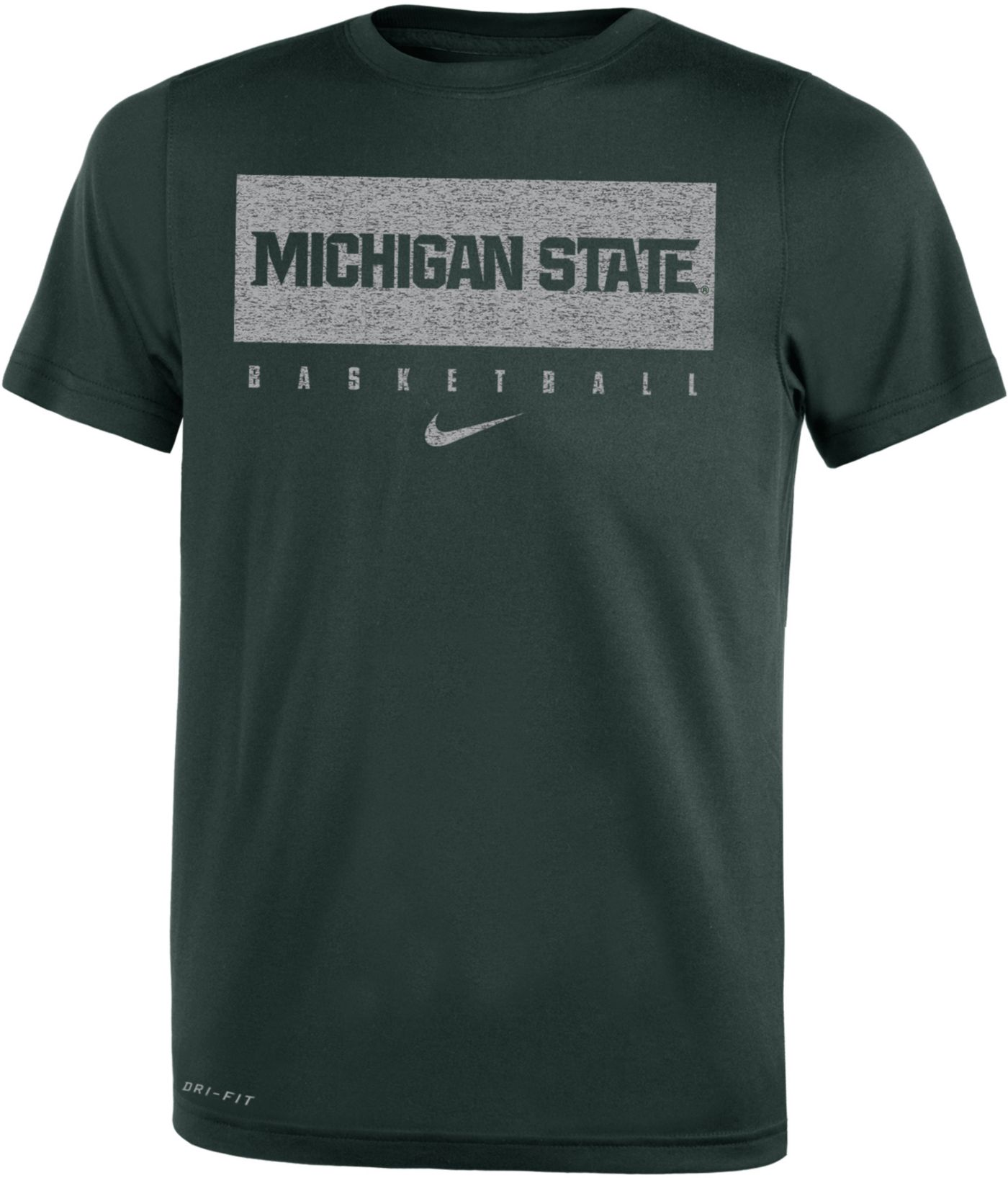 Nike Youth Michigan State Spartans Green Basketball Legend Practice T-Shirt