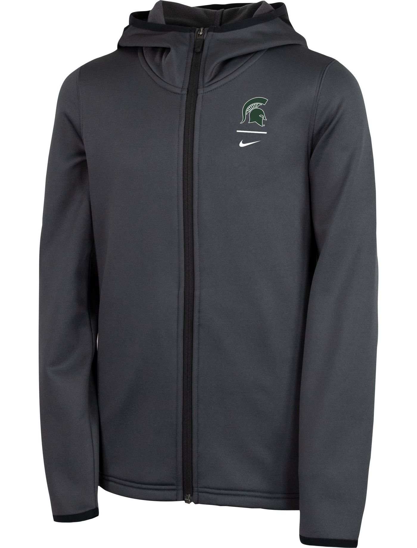 Nike Youth Michigan State Spartans Grey Therma Full-Zip Hoodie