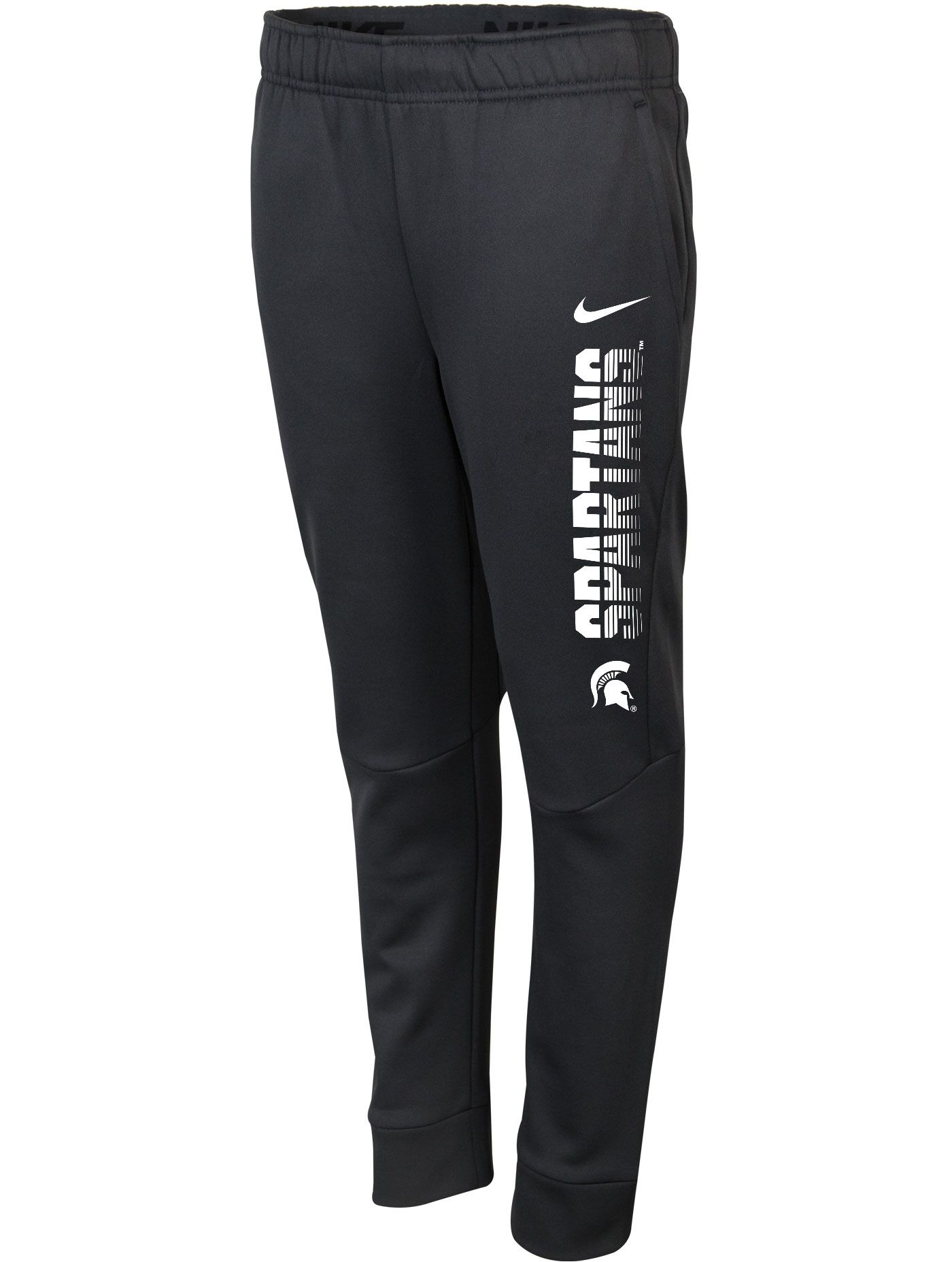 Nike Youth Michigan State Spartans Grey Therma-FIT Tapered Pants
