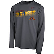 Nike Youth Minnesota Golden Gophers Grey Legend Football Sideline Long Sleeve T-Shirt