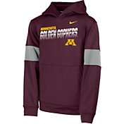 Nike Youth Minnesota Golden Gophers Maroon Therma Football Sideline Pullover Hoodie