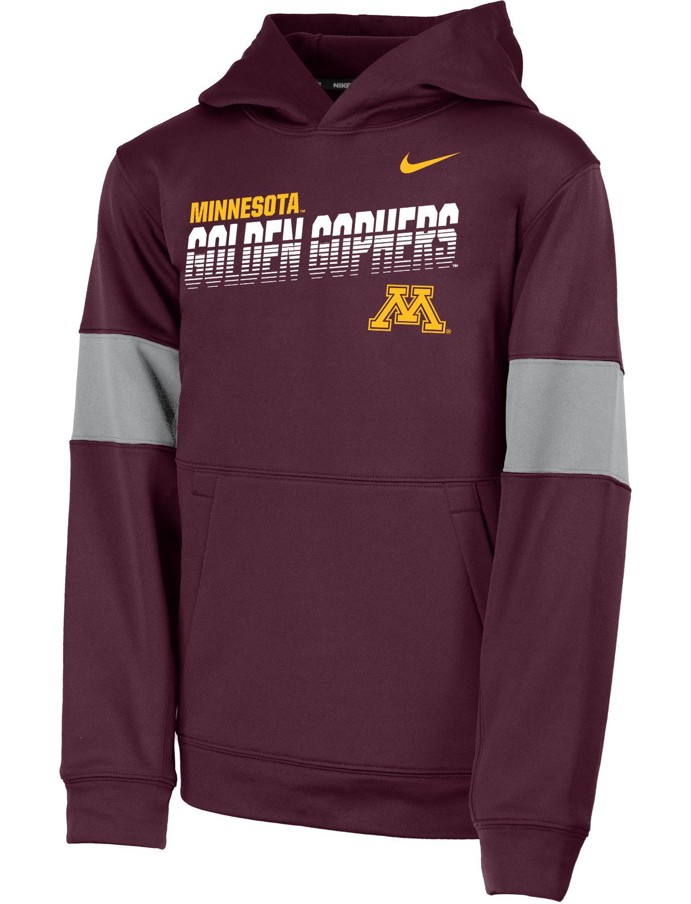 Nike Youth Minnesota Golden Gophers Maroon Therma Football Sideline Pullover Hoodie