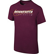 Nike Youth Minnesota Golden Gophers Maroon Football Dri-FIT Cotton Facility T-Shirt