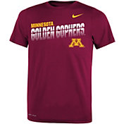 Nike Youth Minnesota Golden Gophers Maroon Legend Football Sideline T-Shirt