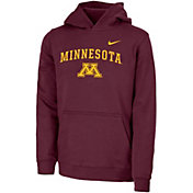 Nike Youth Minnesota Golden Gophers Maroon Club Fleece Pullover Hoodie