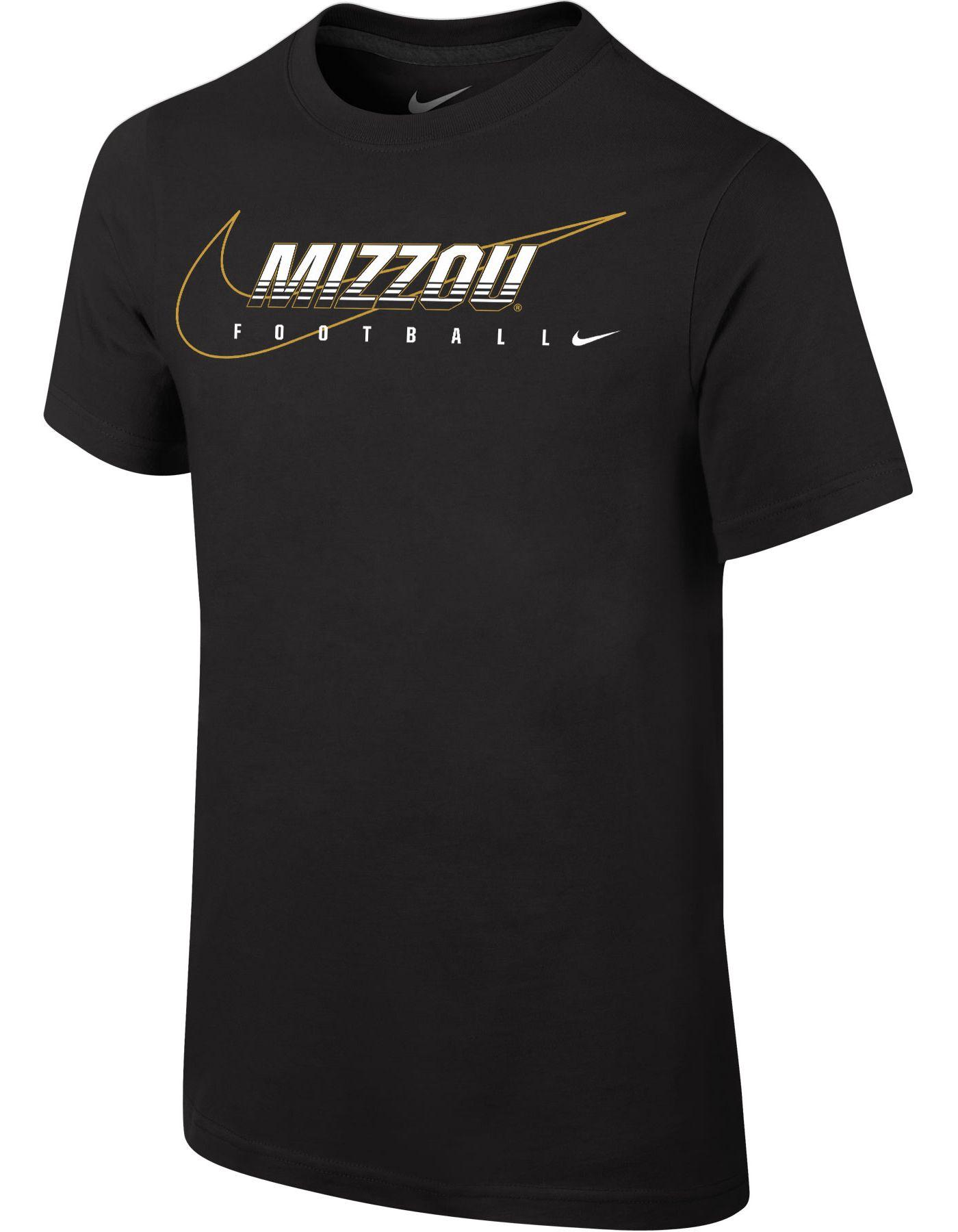 Nike Youth Missouri Tigers Football Dri-FIT Cotton Facility Black T-Shirt