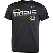 Nike Youth Missouri Tigers Legend Football Sideline Black T-Shirt