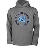 Jordan Youth North Carolina Tar Heels Grey Therma Basketball Hoodie