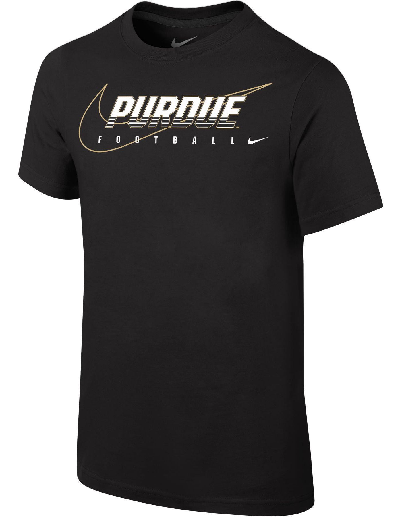 Nike Youth Purdue Boilermakers Football Facility Black T-Shirt