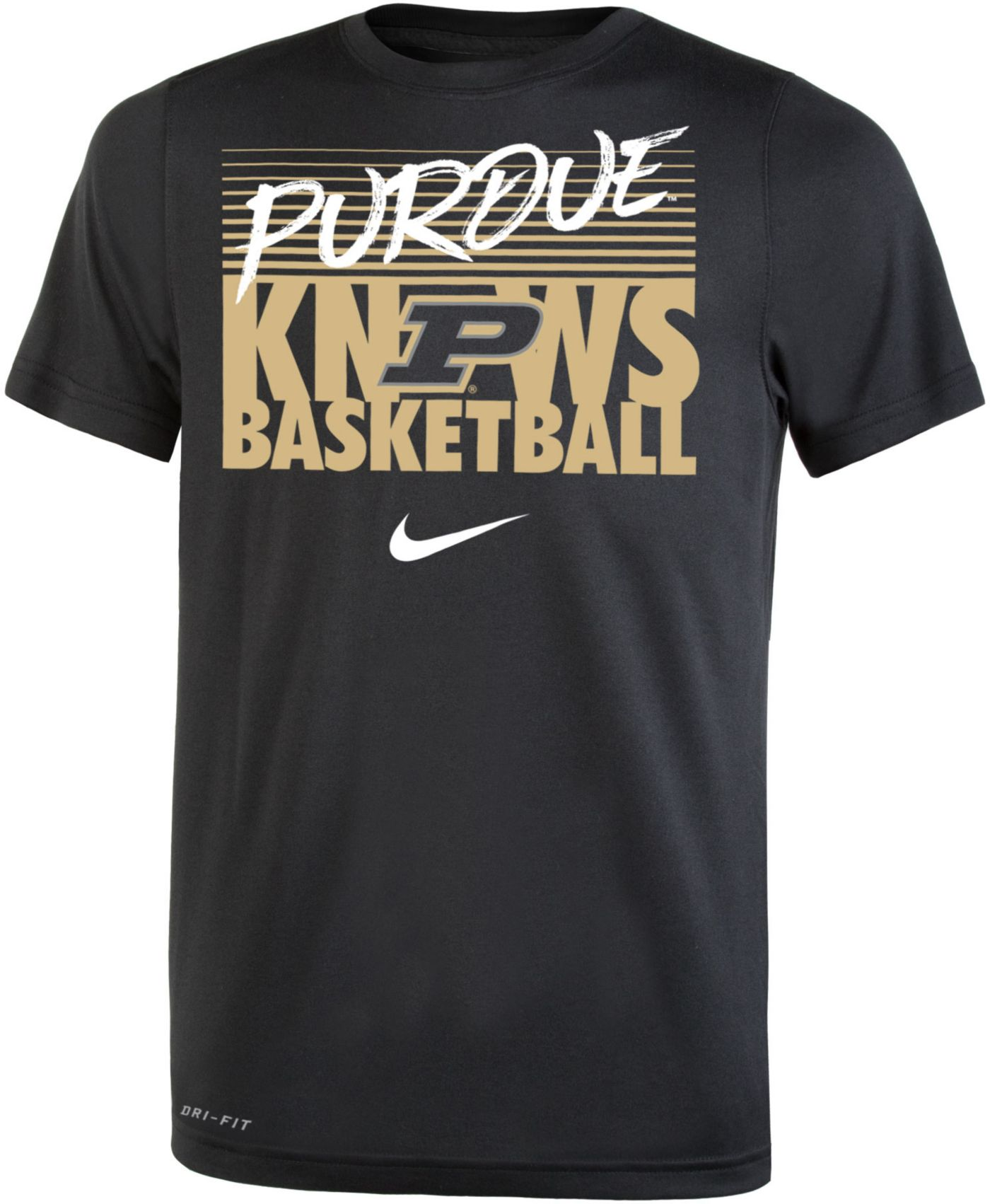 Nike Youth Purdue Boilermakers Basketball Phrase Black T-Shirt