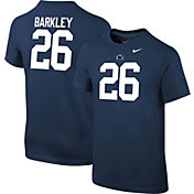 Nike Youth Saquon Barkley Penn State Nittany Lions #26 Blue Cotton Football Jersey T-Shirt