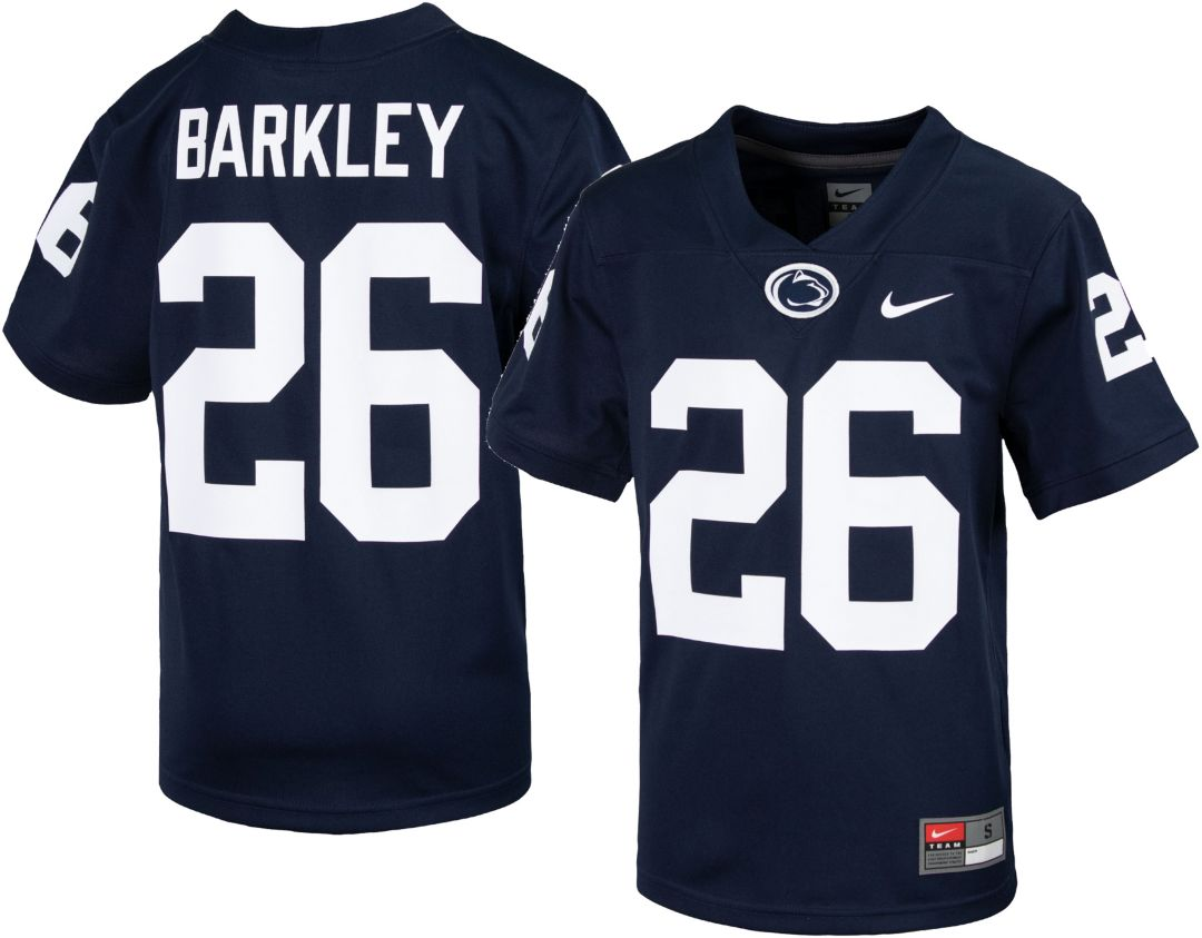 the best attitude 8bcc5 4264c Nike Youth Saquon Barkley Penn State Nittany Lions #26 Blue Replica  Football Jersey
