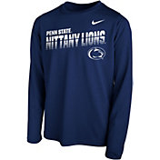 Nike Youth Penn State Nittany Lions Blue Legend Football Sideline Long Sleeve T-Shirt