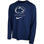 Nike Youth Penn State Nittany Lions Blue Legend Stacked Long Sleeve T-Shirt
