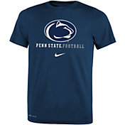 Nike Youth Penn State Nittany Lions Blue Football Icon Wordmark T-Shirt