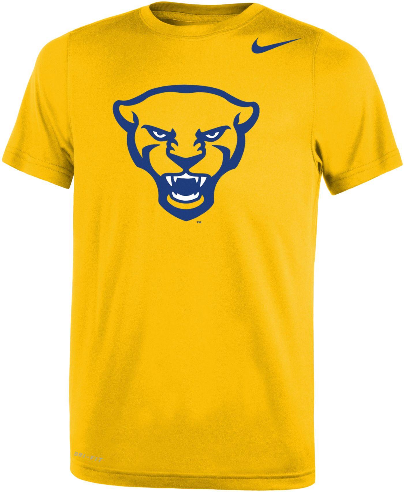 Nike Youth Pitt Panthers Gold Panther Head Logo Dri-FIT Legend 2.0 T-Shirt