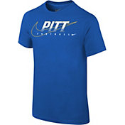 Nike Youth Pitt Panthers Blue Football Dri-FIT Cotton Facility T-Shirt