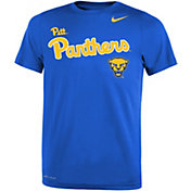 Nike Youth Pitt Panthers Blue Legend Football Sideline T-Shirt