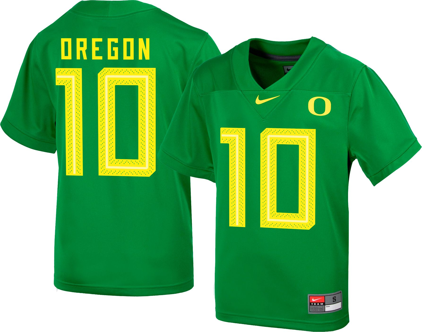 best sneakers f7354 58aef Nike Youth Oregon Ducks #10 Green Replica Football Jersey
