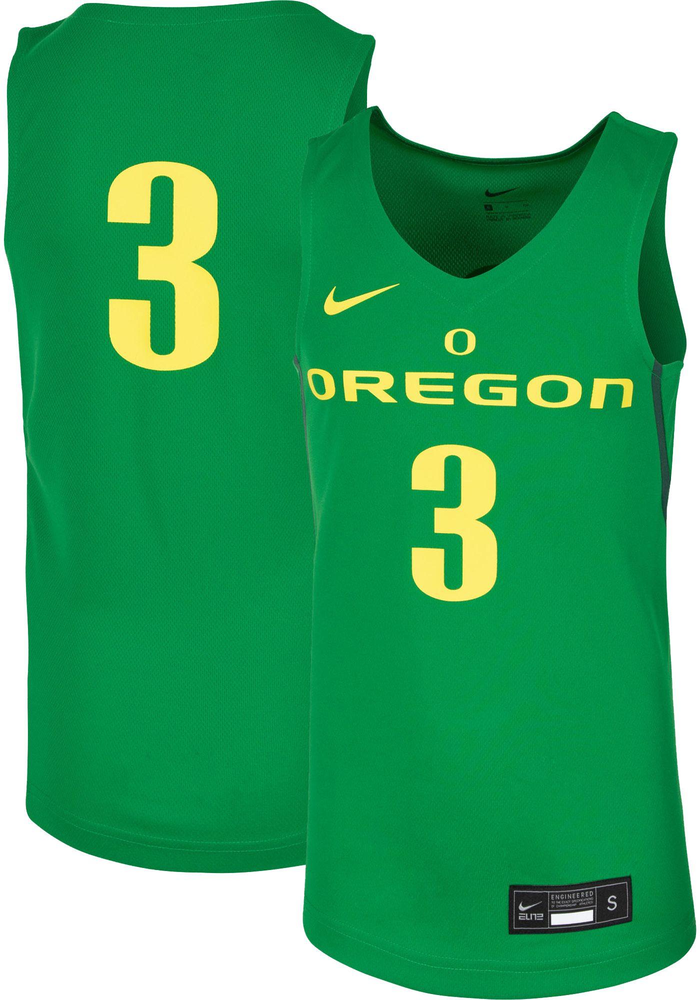 Nike Youth Oregon Ducks #3 Green Replica Basketball Jersey