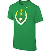 Nike Youth Oregon Ducks Green Cotton Football Icon T-Shirt