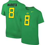 Nike Youth Marcus Mariota Oregon Ducks #8 Green Cotton Football Jersey T-Shirt