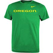 Nike Youth Oregon Ducks Green Legend Football Sideline T-Shirt