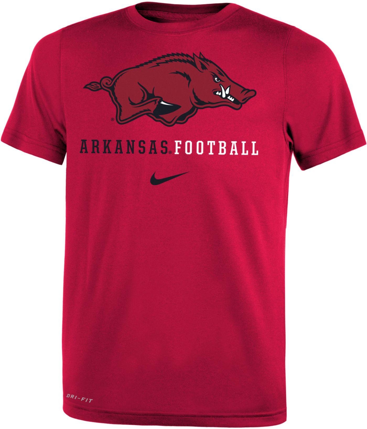 Nike Youth Arkansas Razorbacks Cardinal Football Icon Wordmark T-Shirt