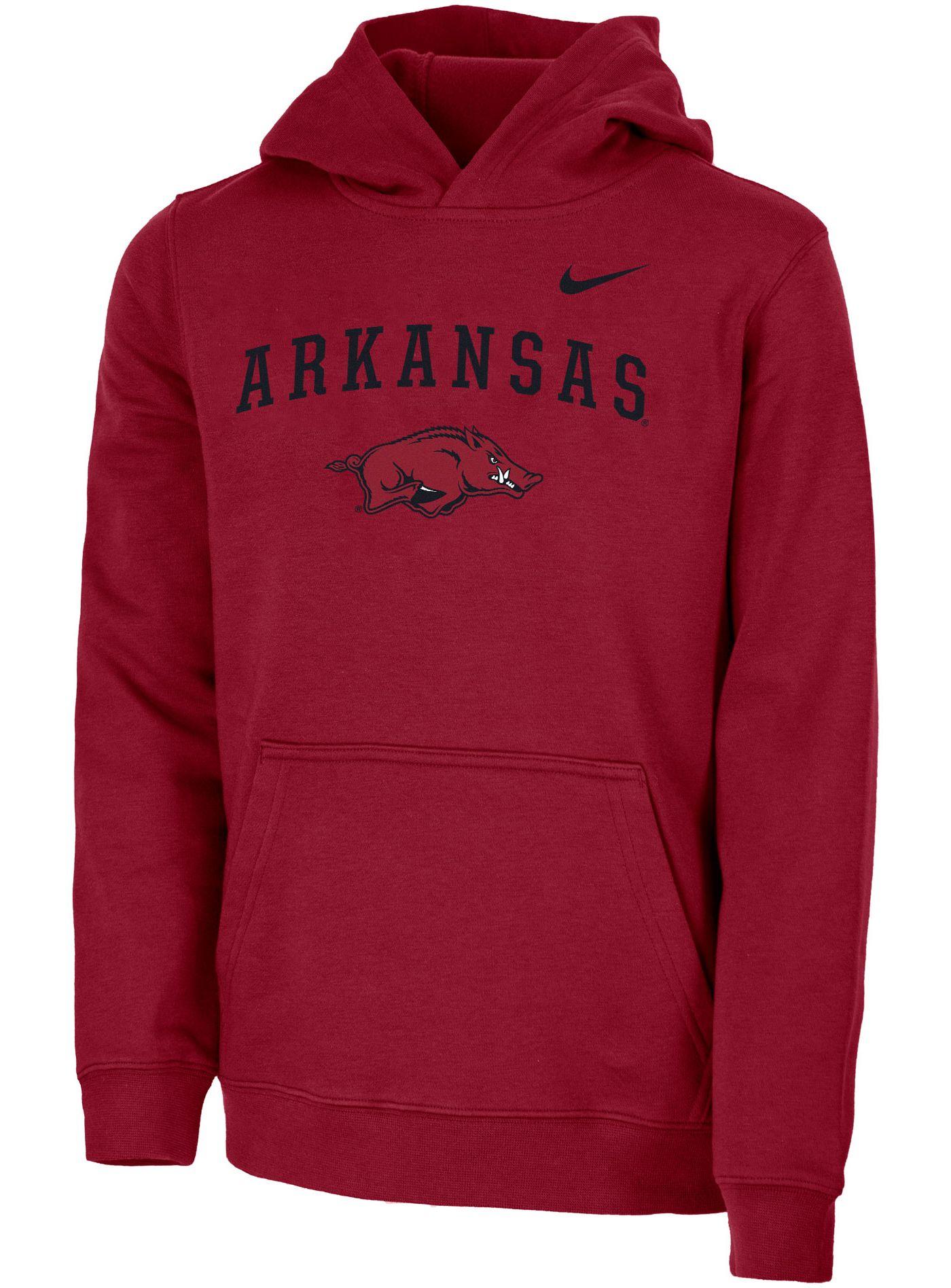 Nike Youth Arkansas Razorbacks Cardinal Club Fleece Pullover Hoodie