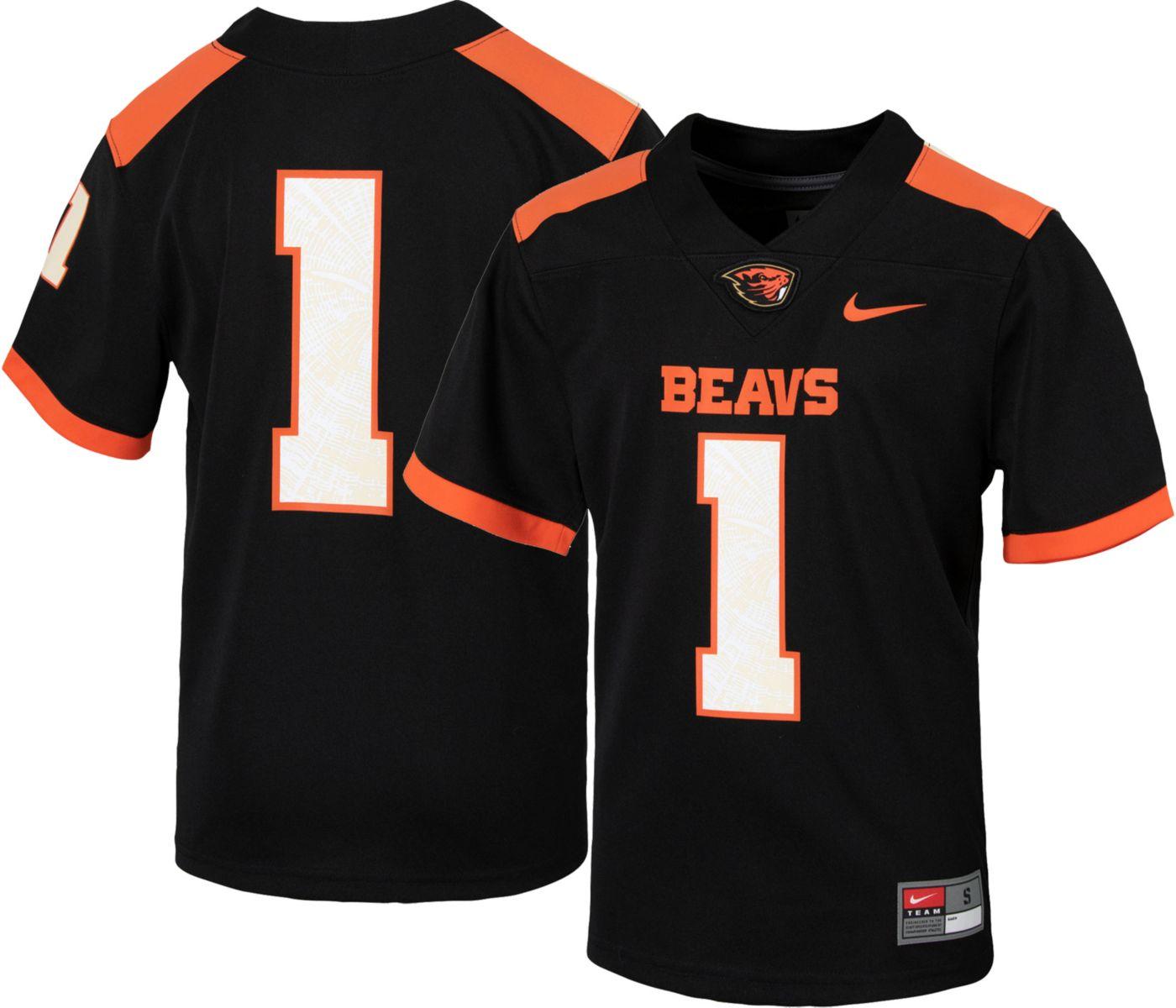 Nike Youth Oregon State Beavers #1 Replica Football Black Jersey