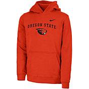 Nike Youth Oregon State Beavers Orange Club Fleece Pullover Hoodie