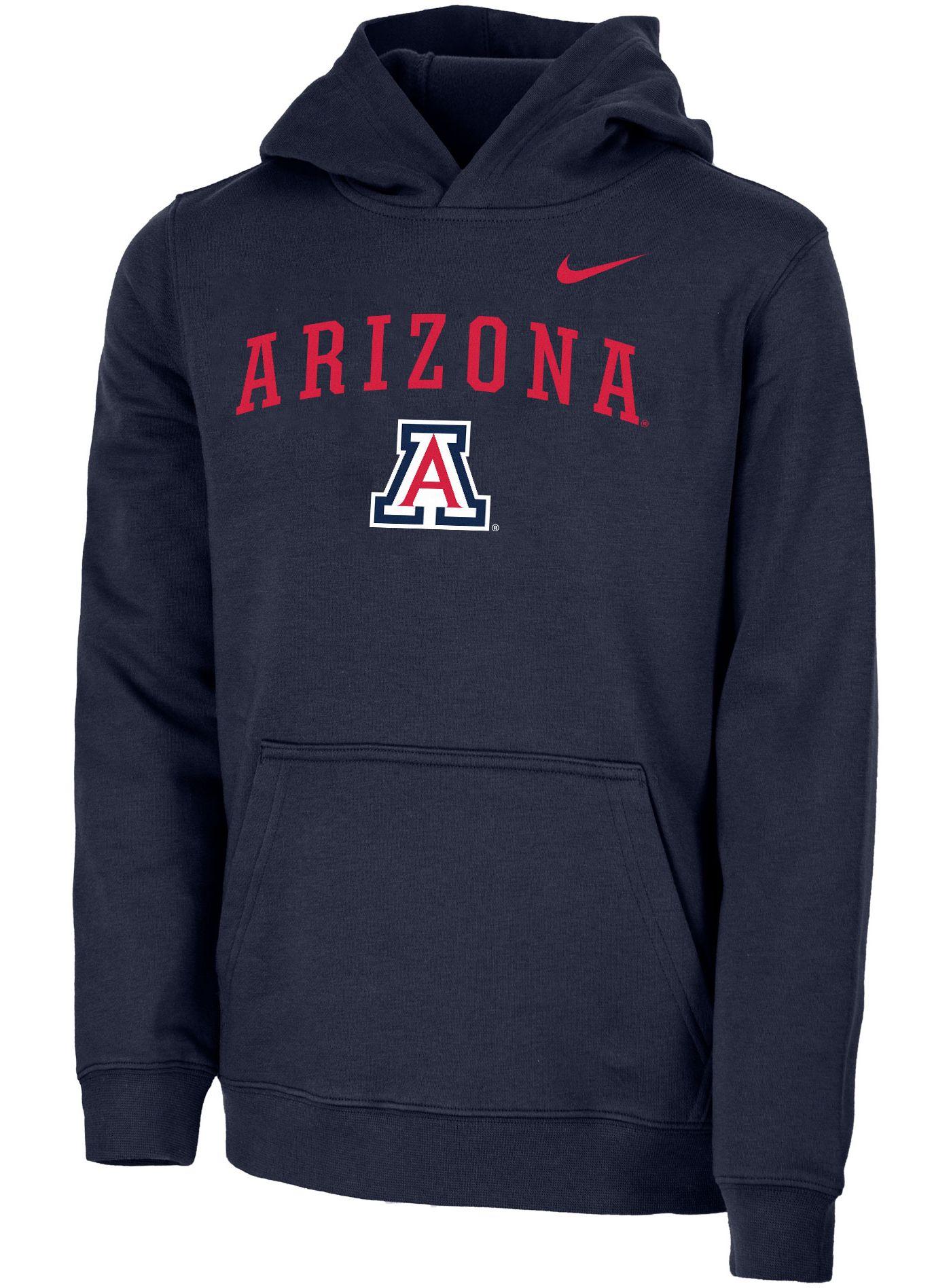 Nike Youth Arizona Wildcats Navy Club Fleece Pullover Hoodie