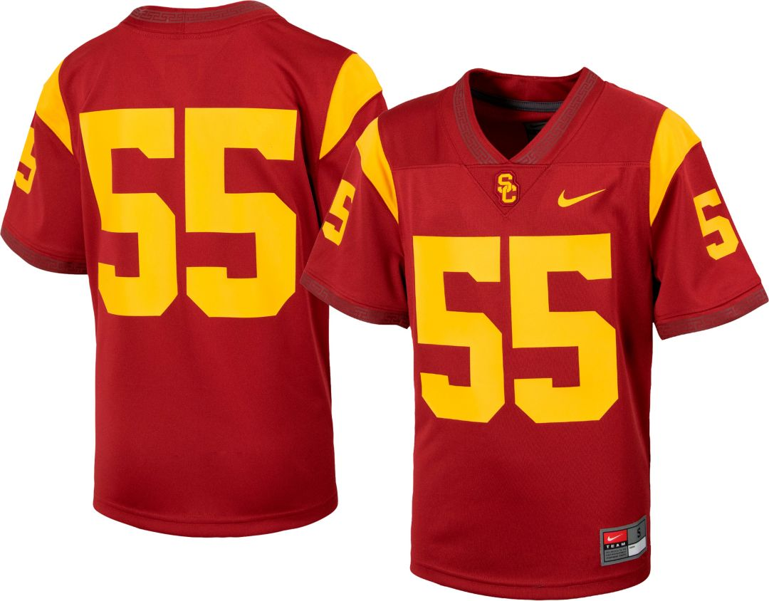 the latest b0dea a8987 Nike Youth USC Trojans #55 Cardinal Replica Football Jersey