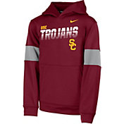 Nike Youth USC Trojans Cardinal Therma Football Sideline Pullover Hoodie