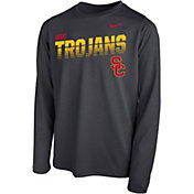 Nike Youth USC Trojans Grey Legend Football Sideline Long Sleeve T-Shirt