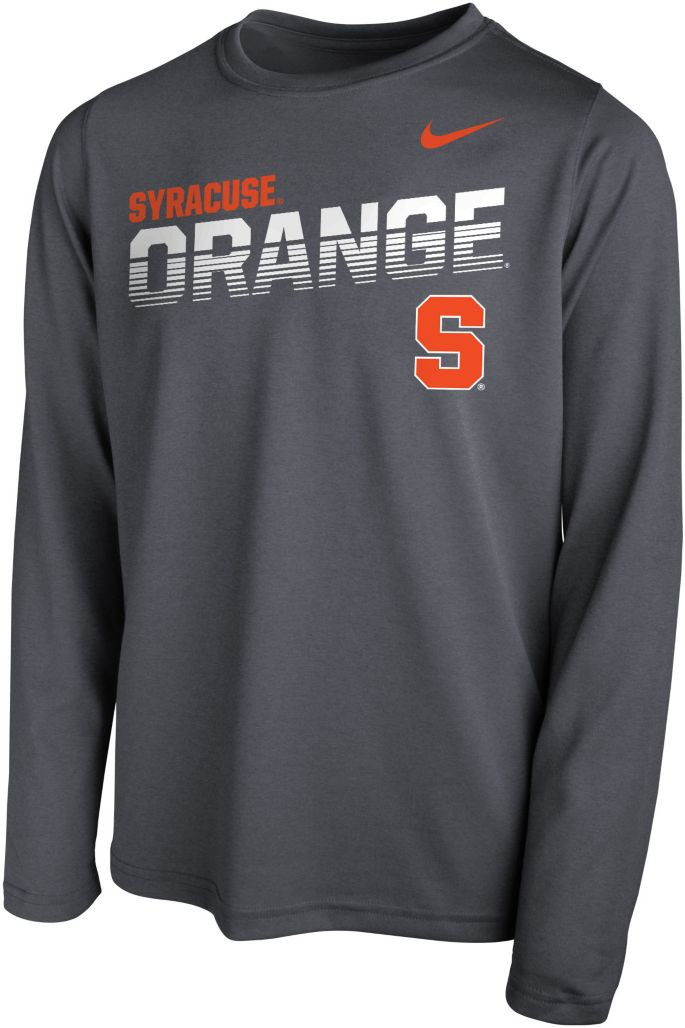 hot sales 2bd70 20343 Nike Youth Syracuse Orange Blue Legend Football Sideline Long Sleeve T-Shirt