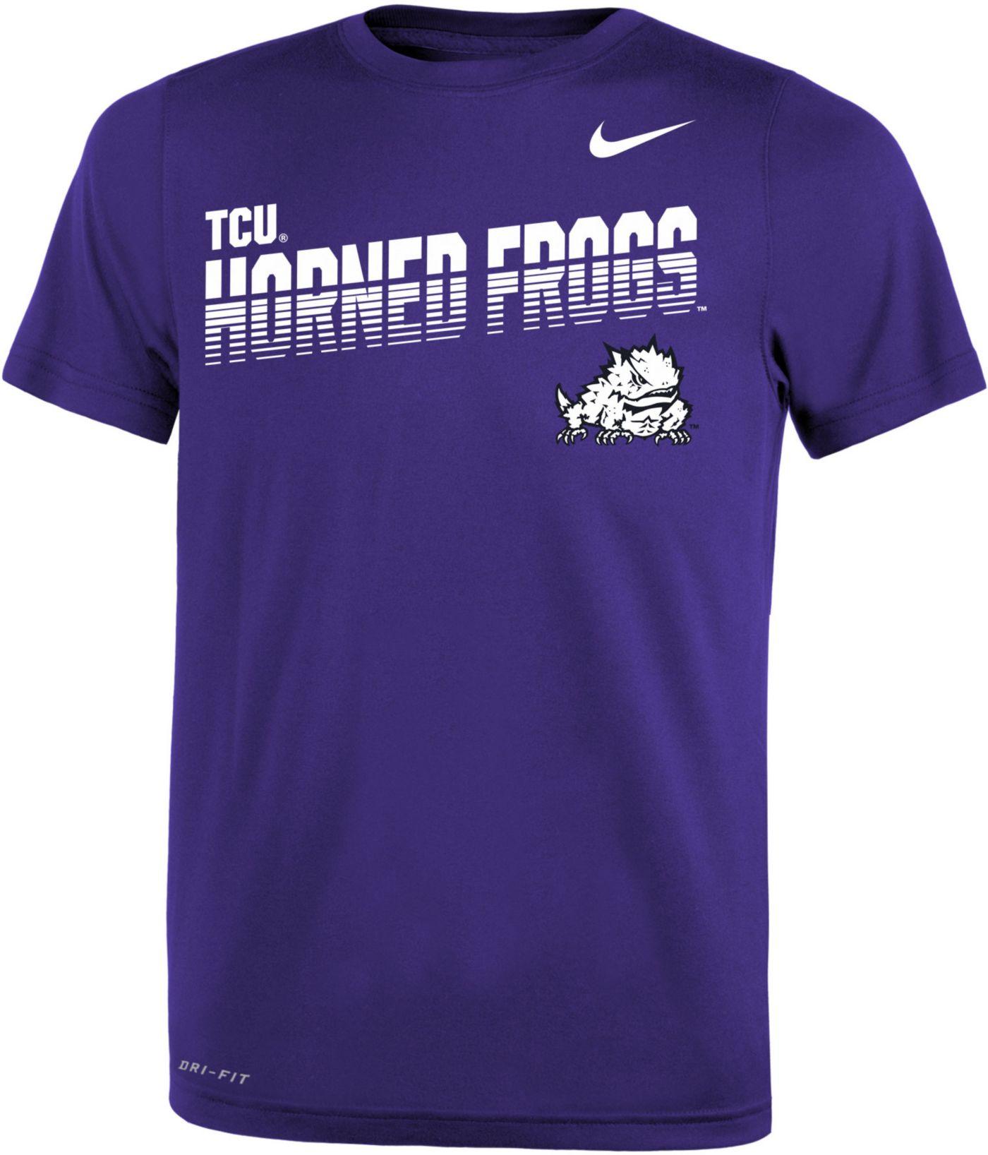 Nike Youth TCU Horned Frogs Purple Legend Football Sideline T-Shirt