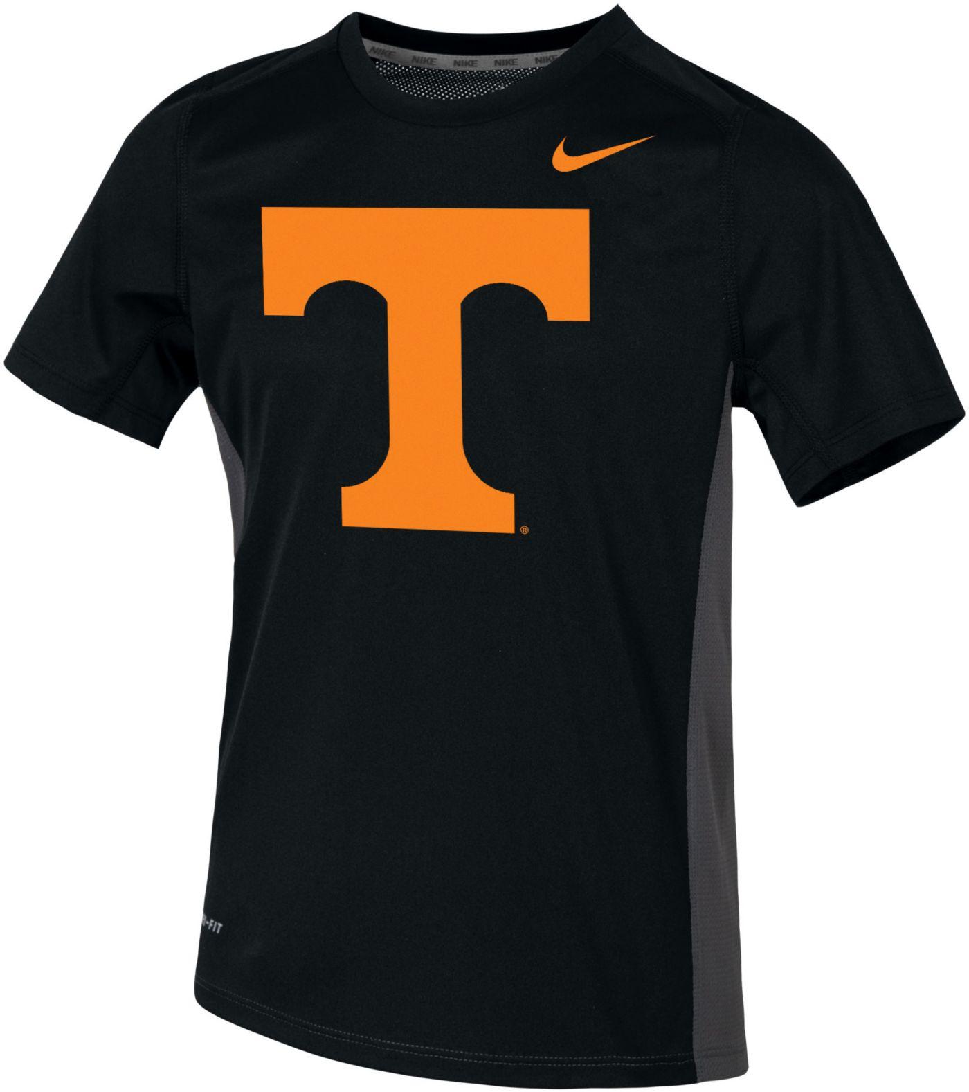 Nike Youth Tennessee Volunteers Dri-FIT Miler Black T-Shirt