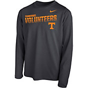 Nike Youth Tennessee Volunteers Grey Legend Football Sideline Long Sleeve T-Shirt