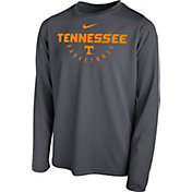 Nike Youth Tennessee Volunteers Grey Legend Long Sleeve Basketball T-Shirt