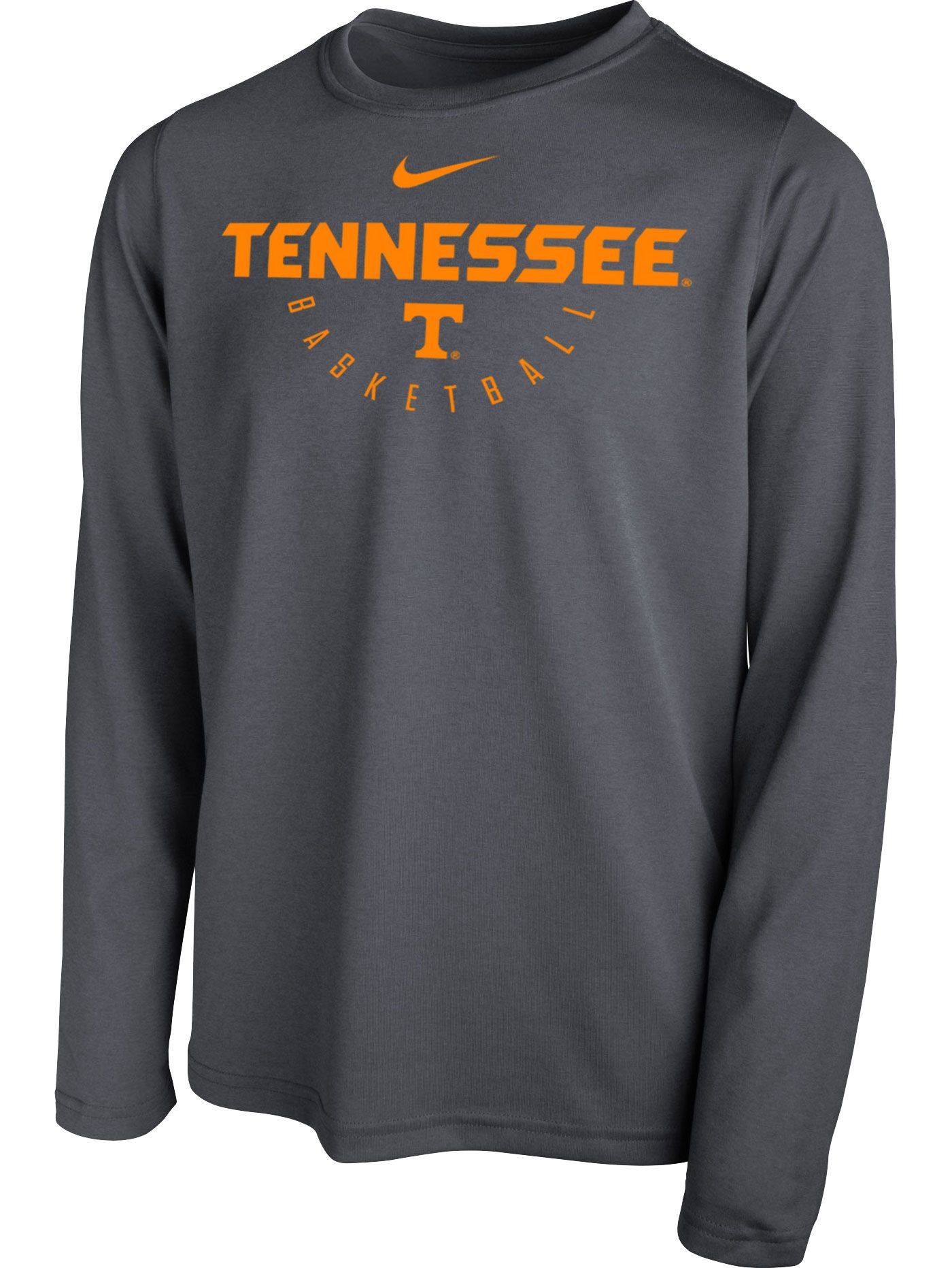 Nike Youth Tennessee Volunteers Grey Legend Long Sleeve Basketball T-Shirt