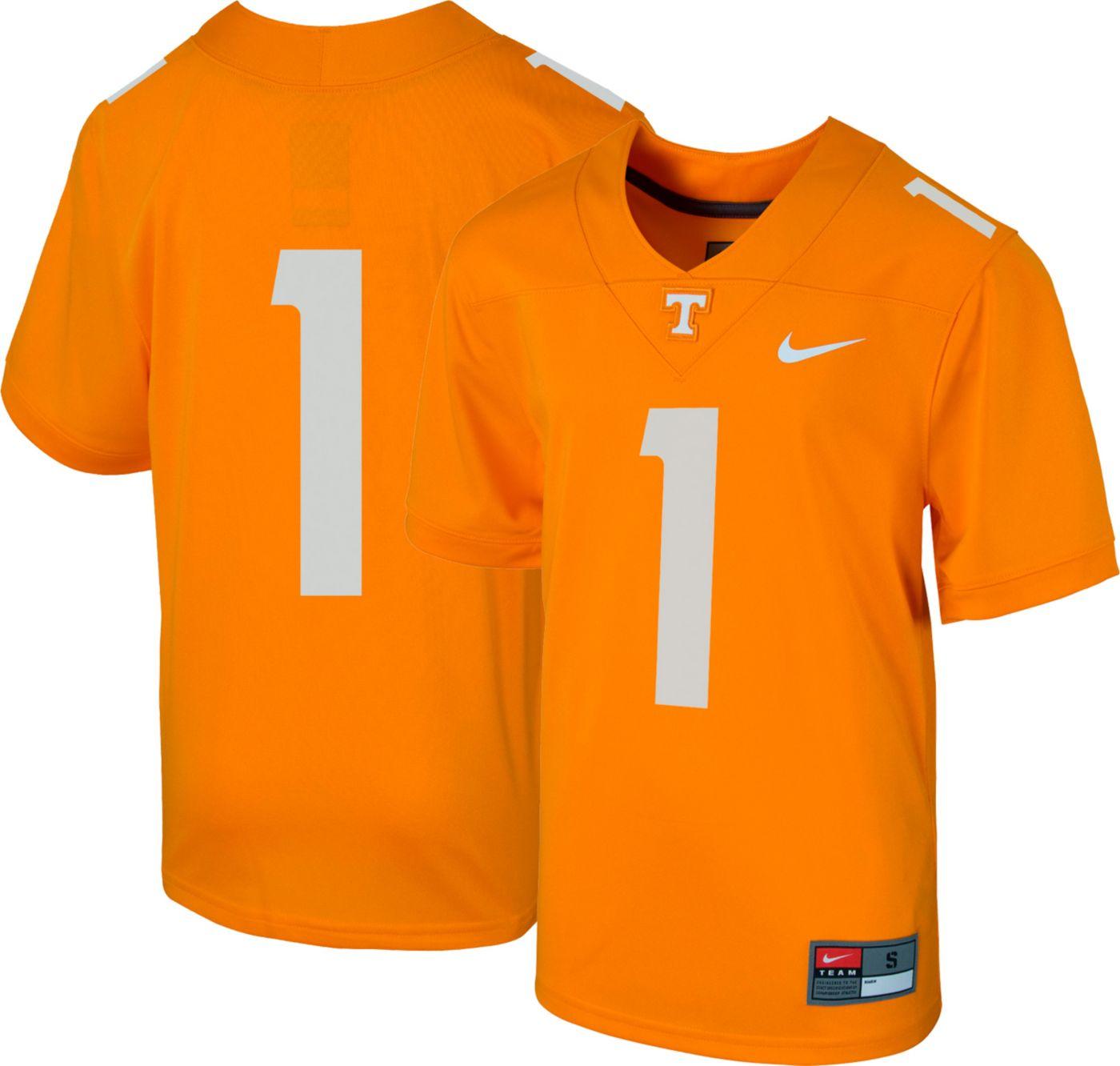 Nike Boys' Tennessee Volunteers #1 Tennessee Orange Replica Football Jersey