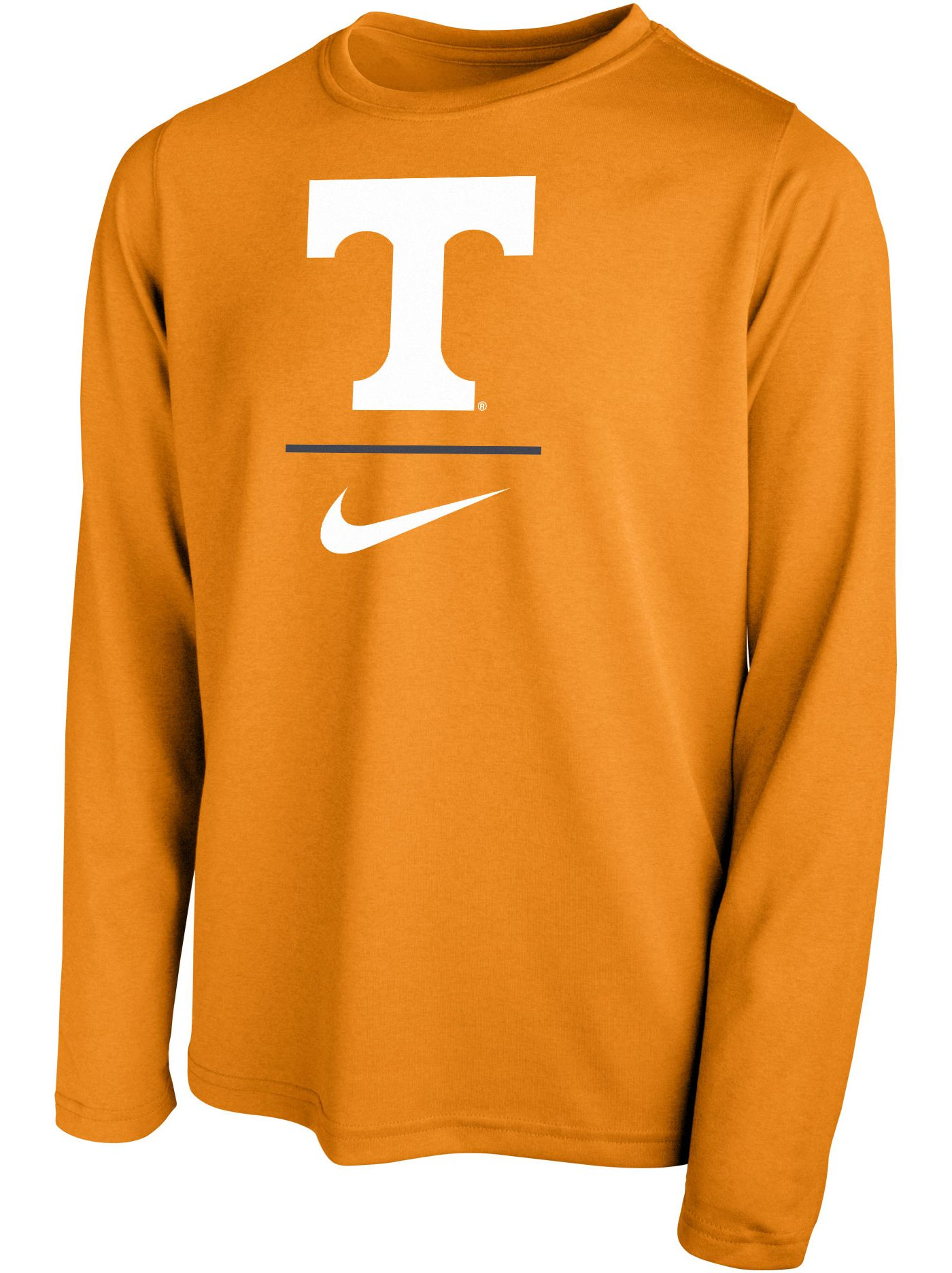 Nike Youth Tennessee Volunteers Tennessee Orange Legend Stacked Long Sleeve T-Shirt