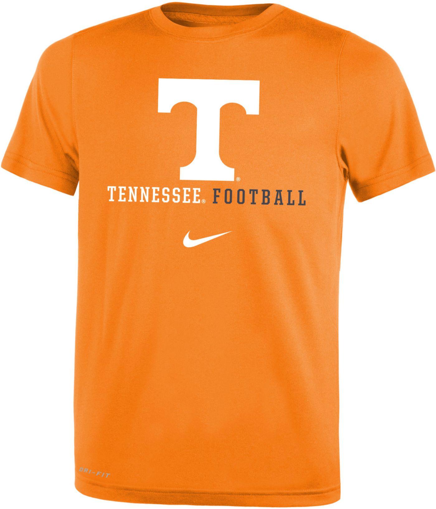 Nike Youth Tennessee Volunteers Tennessee Orange Football Icon Wordmark T-Shirt